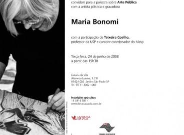 Palestra Sobre Arte Pública com Maria Bonomi