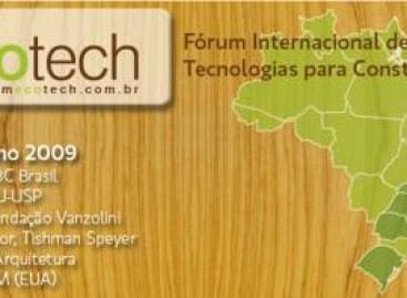 Construção: Sustentabilidade, Fórum Ecotech