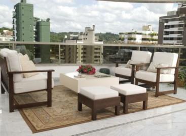 Decoração: móveis para varandas cobertas