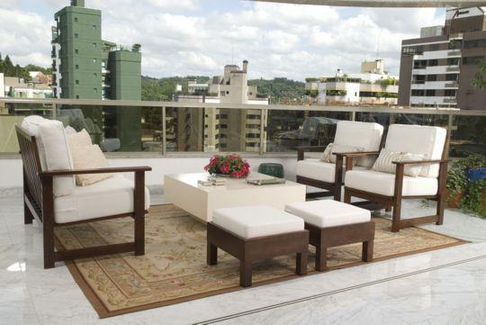 Decoracao: móveis para varandas cobertas