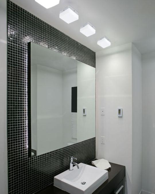 Banheiro,iluminação bem pensada para o ambiente