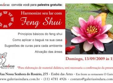 Palestra gratuita: Harmonize seu lar com Feng Shui