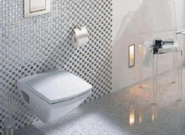 Banheiros com louças suspensas