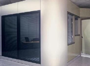 Divisórias elegantes para corredores e salas de reunião