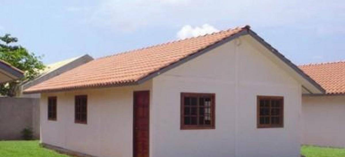 Casa construída com compósitos