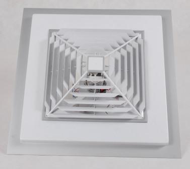 Ventilador de teto quadrado