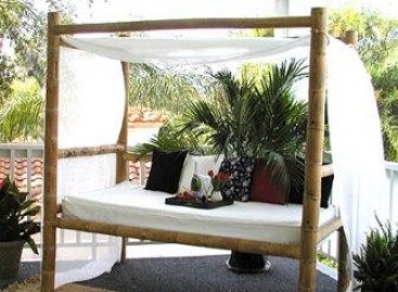 Objetos de bambu para decorar a casa