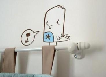Paredes decoradas para o quarto dos pequenos