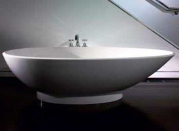 Banheira com formato oval