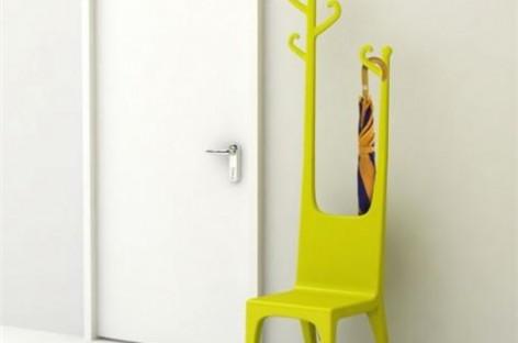 Cabideiro Cadeira; Dois em Um