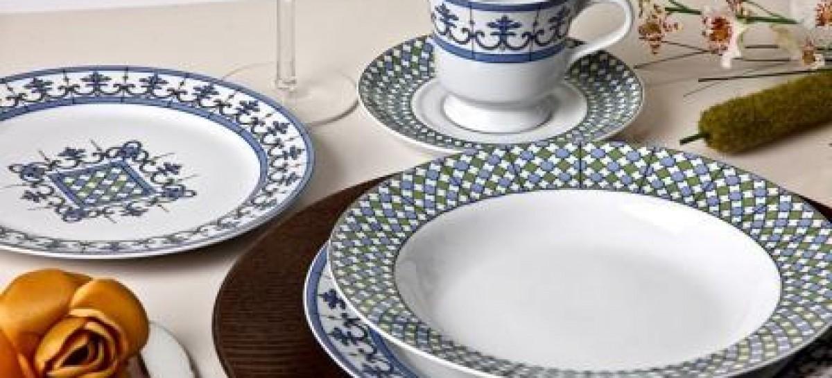 Decoração portuguesa para porcelanas finas