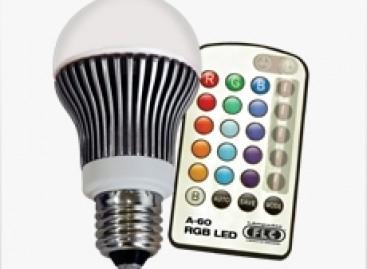 Mude a cor da lâmpada por controle remoto