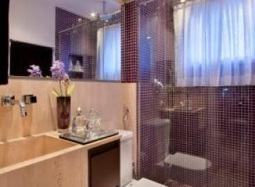Banheiro com estilo contemporâneo