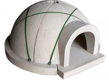 Kit pré-moldado de forno a lenha
