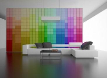 Uma parede que muda de cor