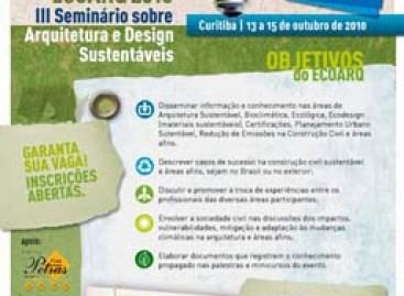 Curso de sustentabilidade para profissionais de arquitetura