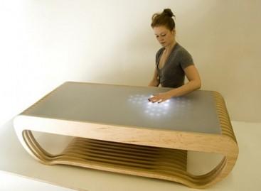 Mesa com iluminação LED