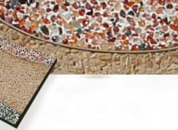 Revestimento com pedras semipreciosas
