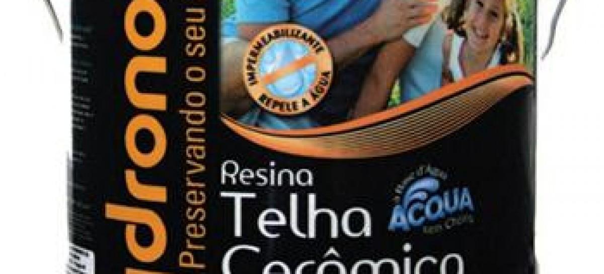 Telhas protegidas com resina impermeabilizante