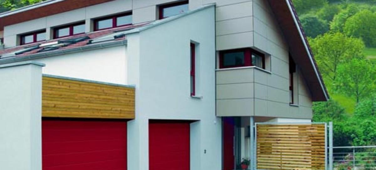 Uma porta de garagem diferente