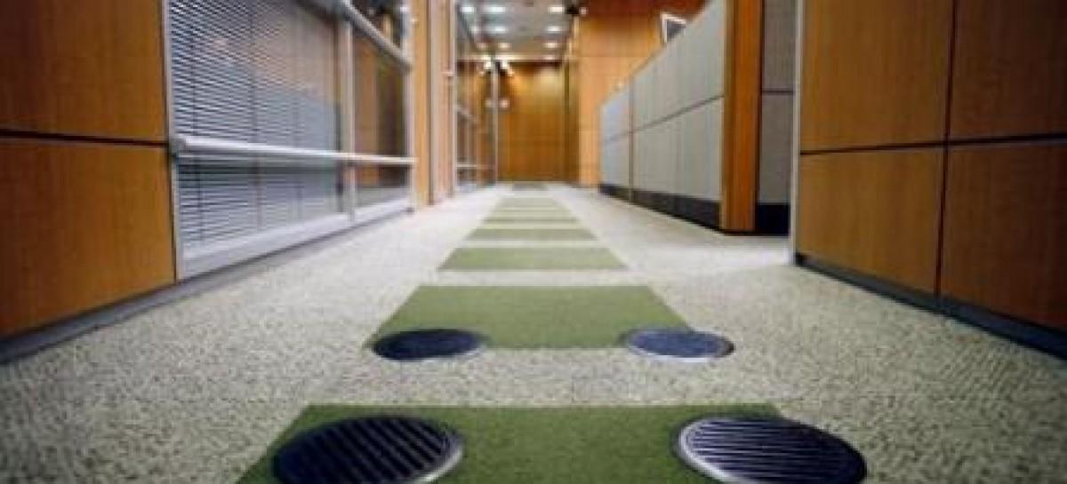 Sistema de climatização pelo piso
