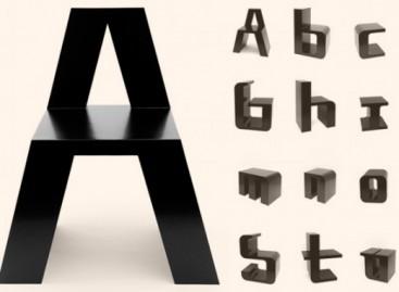 ABChairs, as cadeiras em forma de letras