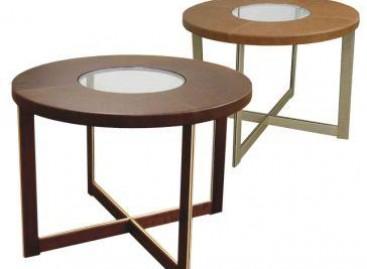 Mesa com design arredondado