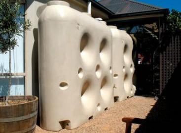 Tanque que armazena água da chuva