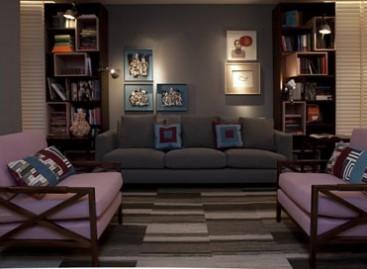 Liberdade de composição com carpetes modulares