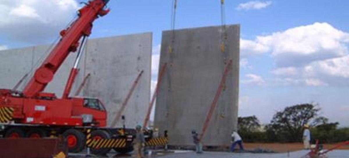 Placas pré-moldadas de concreto