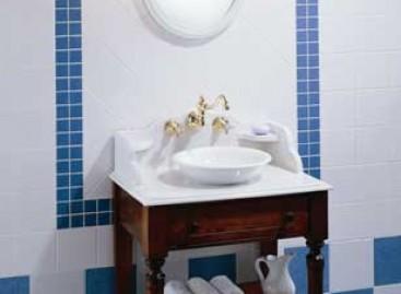 Banheiro com charme retrô