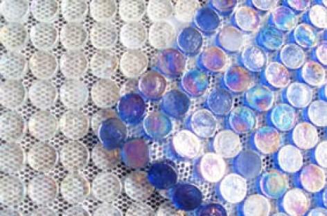 Pastilha de vidro redonda