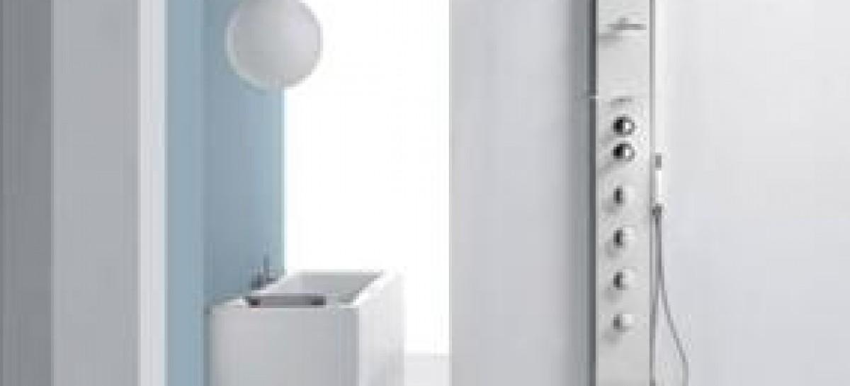 Relaxe com as colunas de banho