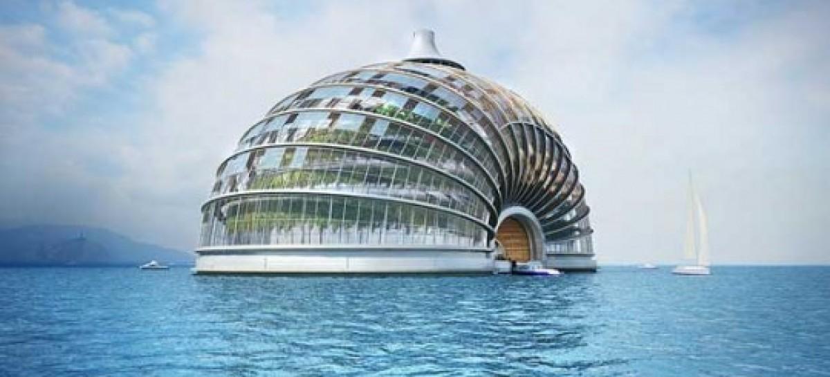 Um hotel flutuante