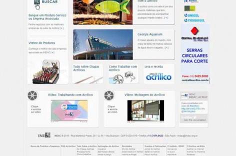 Novo site do INDAC