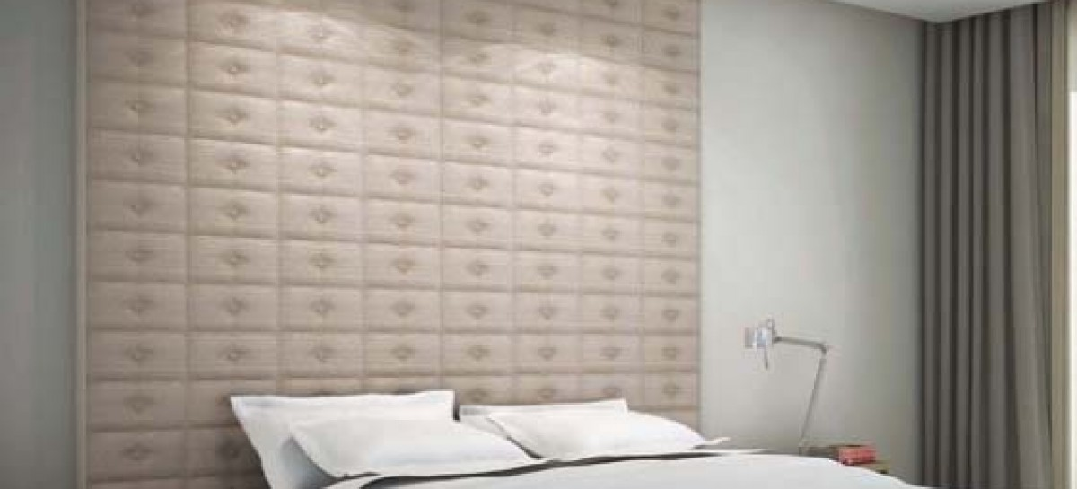Cerâmica com efeito de tecido