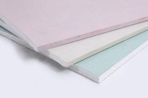 Placas coloridas de drywall