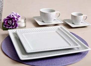 Decore a mesa com porcelanas modernas
