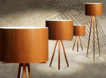 Luminárias de madeira