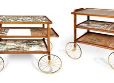Um carrinho de chá fashionista