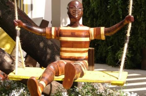 Escultura no jardim