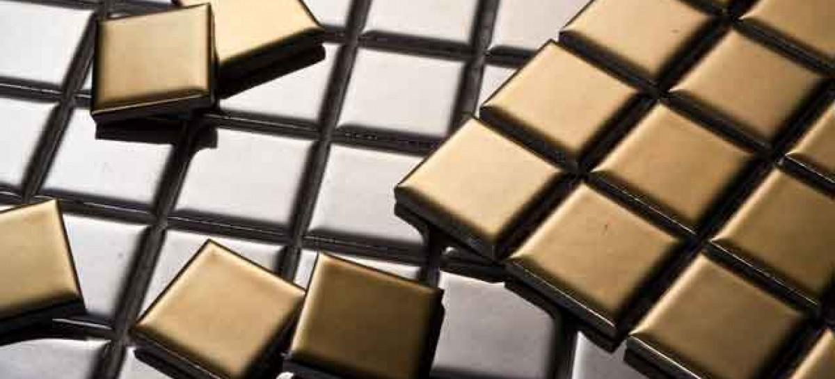 Ouro e platina nas pastilhas