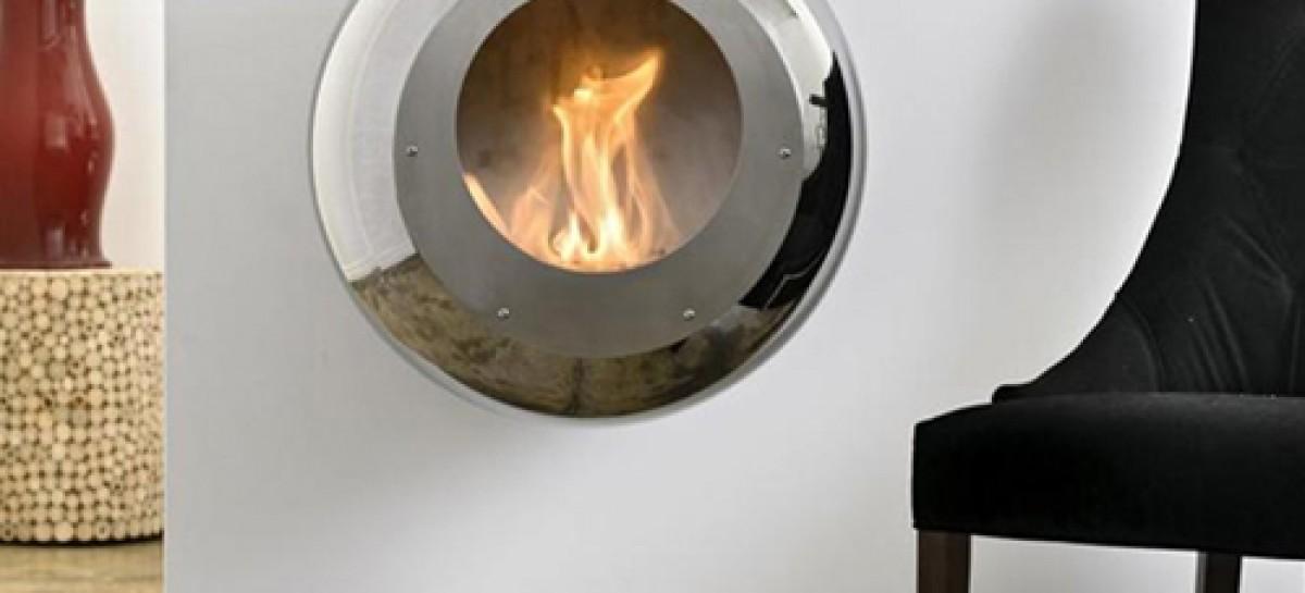 Lareira redonda de aço inox