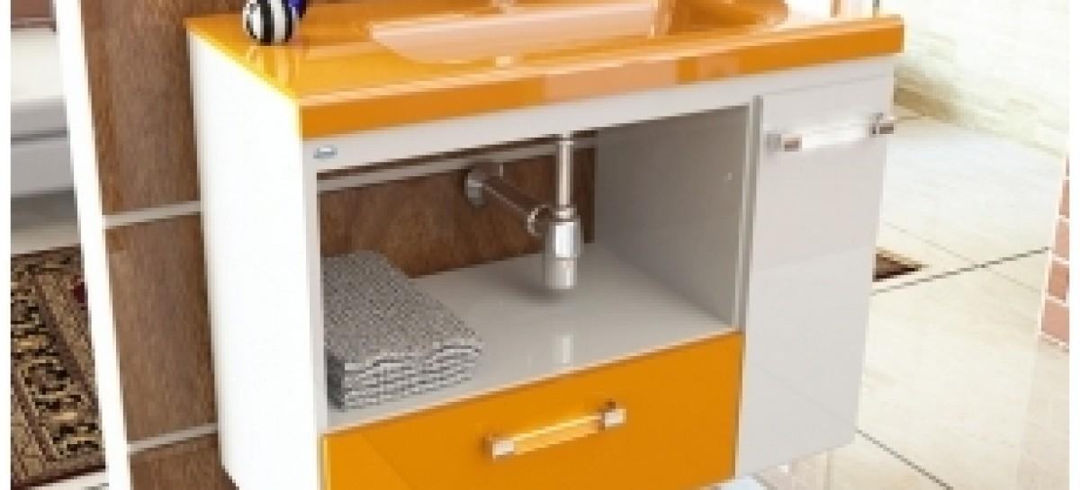 Gabinetes para o banheiro