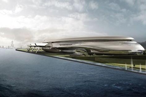 Porto sustentável em forma de baleia