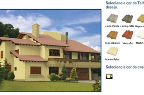 Simulador de cor para telhas