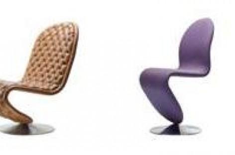 Cadeiras com formas orgânicas