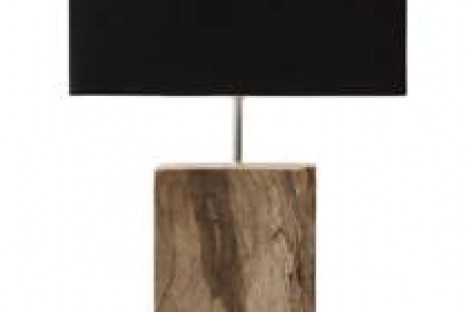 Abajures com madeiras descartadas