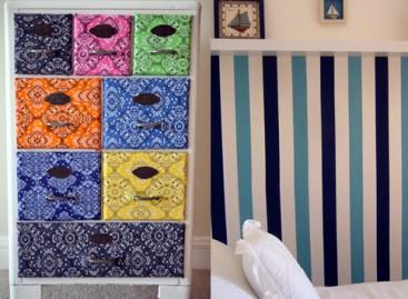 Tecidos adesivos para decoração