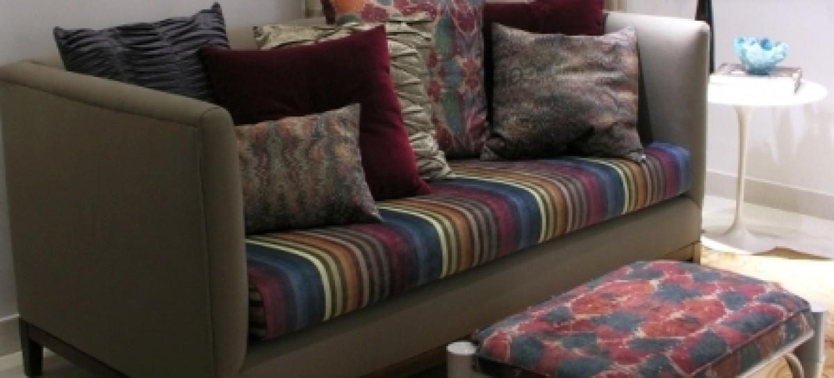 Tecidos coloridos para decoração